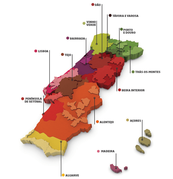Foto 4 Mapa Wines of Portgal O Sector dos Vinhos em Portugal  O Sector dos Vinhos em Portugal  Foto 4 Mapa Wines of Portgal