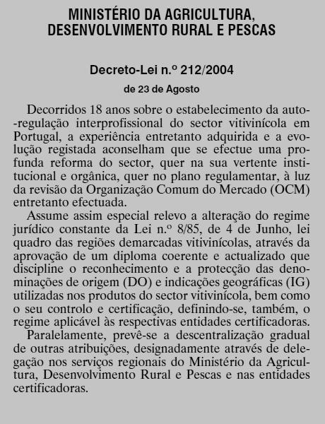 Foto 8 212 2004 O Sector dos Vinhos em Portugal  O Sector dos Vinhos em Portugal  Foto 8 212 2004