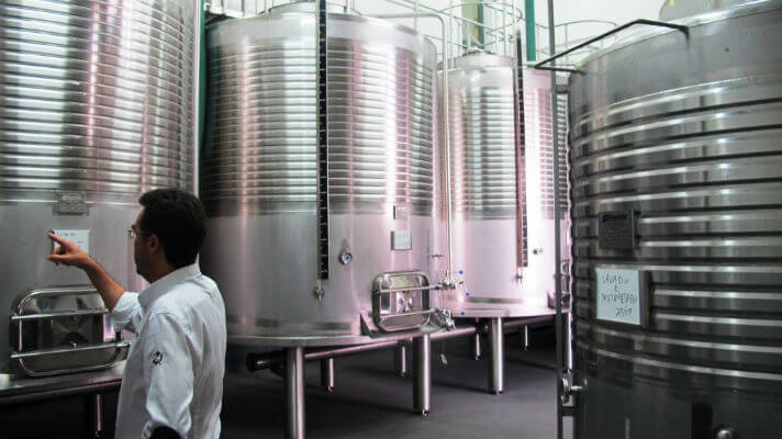 Blend_All_About_Wine_Madeira_Vintners_with_temperature_controlled_fermentation_vats