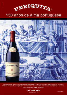 Blend-All-About-Wine-Periquita-150anos pub-2 periquita Quando (quase) não havia marcas de vinho em Portugal Blend All About Wine Periquita 150anos pub 2