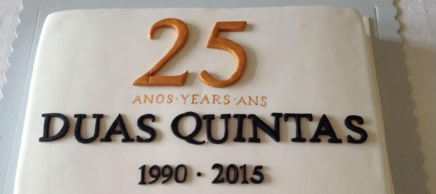 Blend-All-About-Wine-The-25-years-of the Duas Quintas wine-Cake duas quintas Os 25 anos do vinho Duas Quintas Blend All About Wine The 25 years of the Duas Quintas wine Cake