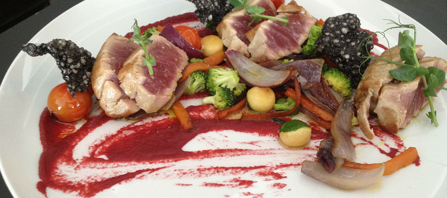 Blend-All-About-Wine-Maria Pia Restaurant-Braised Tuna